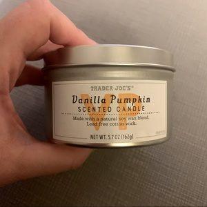 3/$25 Trader Joe's Vanilla Pumpkin Scented Candle